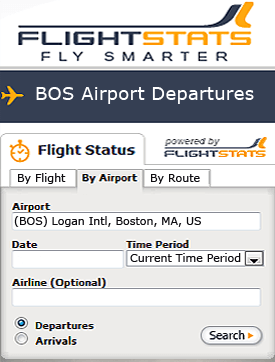 Check flight status Boston Limo